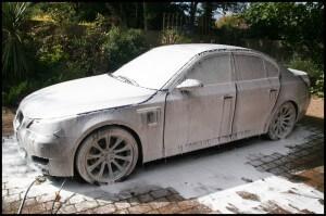 BMW M5 Snow Foam