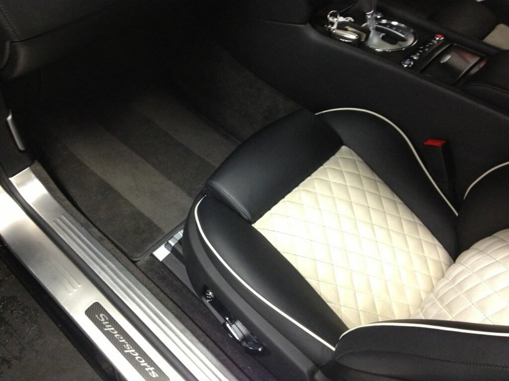 Bentley Continental Supersports Alcantara Cleaning
