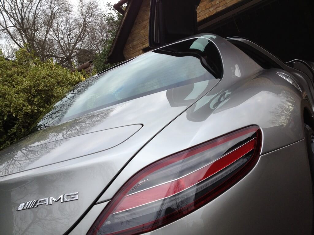 Mercedes SLS Gold Valet Wax Stage