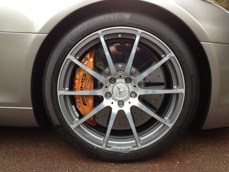 Mercedes SLS Wheel Cleaning