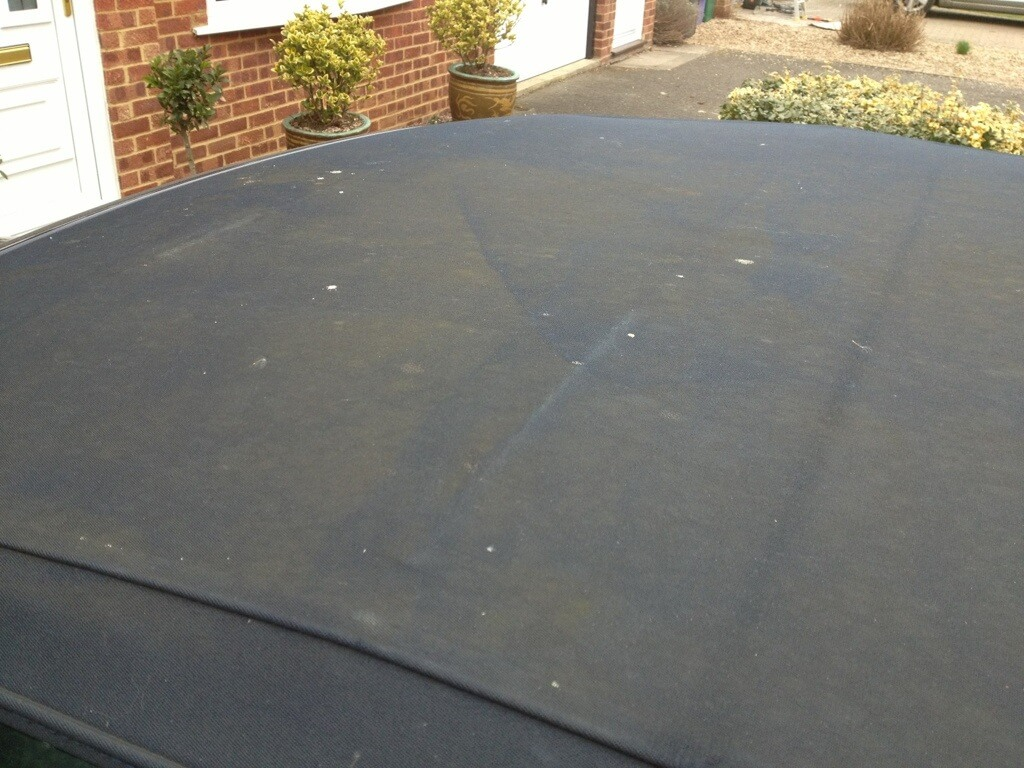 Bmw E46 Convertible Roof Cleaned With Autoglym All That