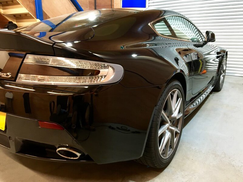 aston martin after used car detail carried out