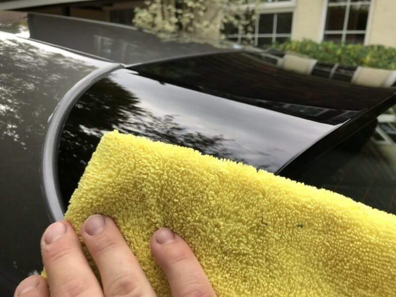 Drying ceramic coated car