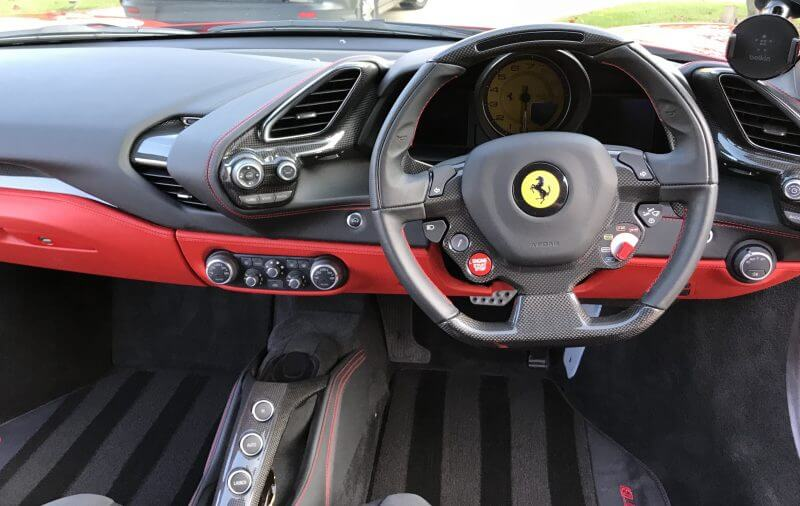 Car Interior protection on Ferrari 488