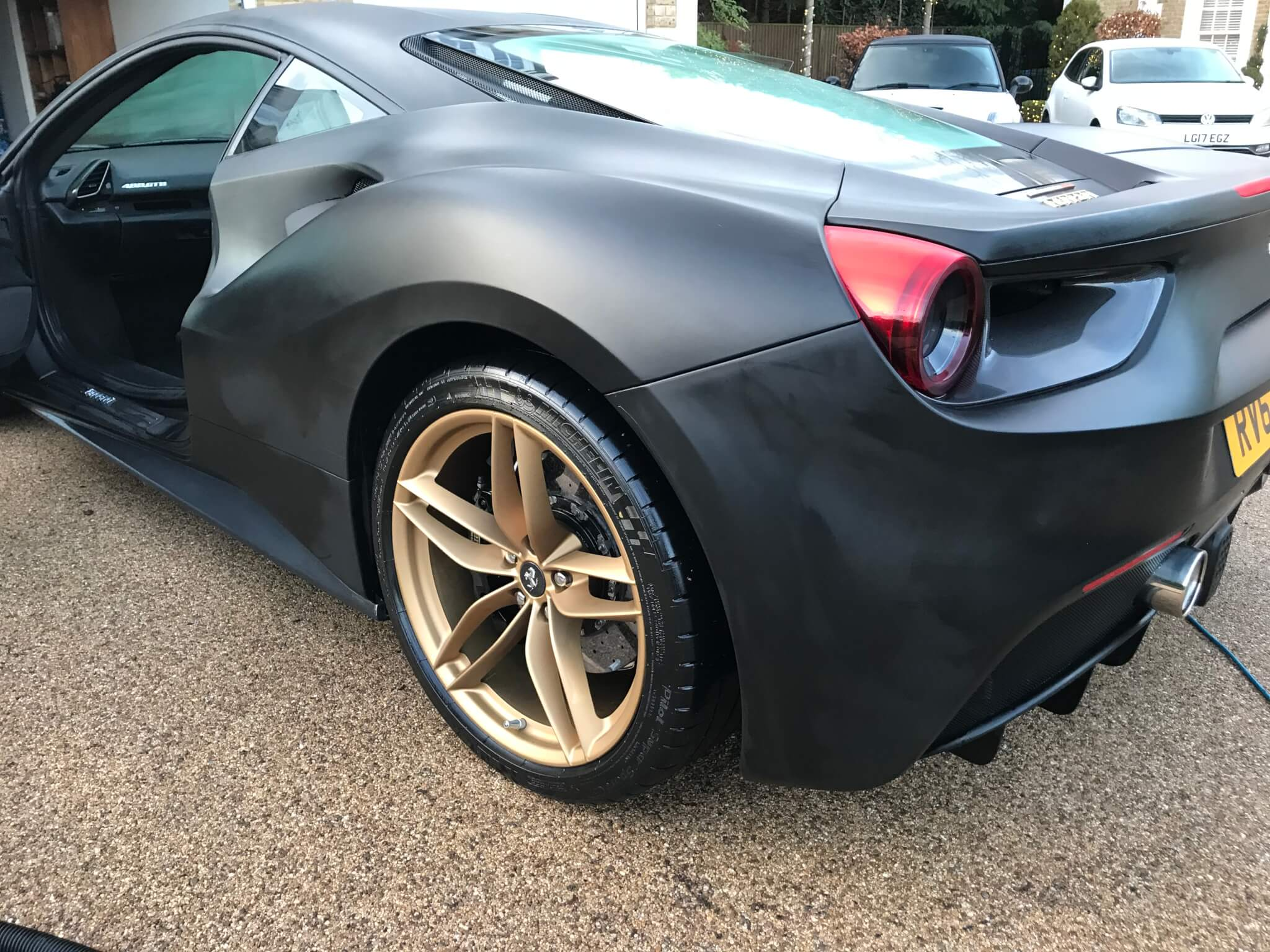 Matte paintwork on Ferrari 488